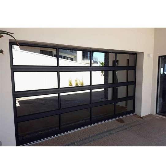 China WDMA Unbreakable Polycarbonate Glass Garage Door