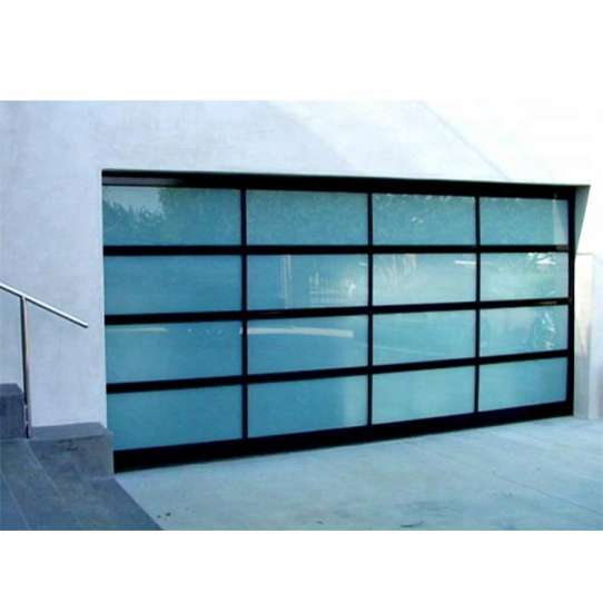 WDMA 9x8 Aluminum Insulated Frosted Tempered Glass Garage Door Price Automatic