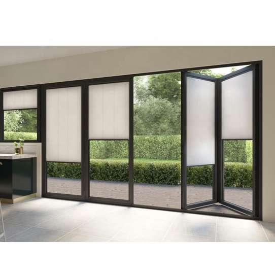 WDMA Air Tight Exterior Veranda Large Opening Big Aluminium Patio Bi Folding Stacking Doors