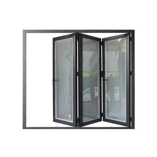 China WDMA Aluminium 5 Panel Folding Door 3.5m By 2.4 Bi-folding Glass Doors