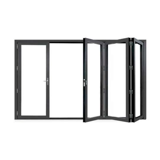 China WDMA Aluminium Bi-folding Glass Doors