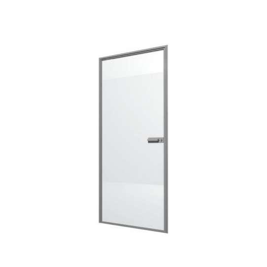 China WDMA Aluminium Alloy Frosted Glass Door Interior Opaque Glass Glass Bathroom Door