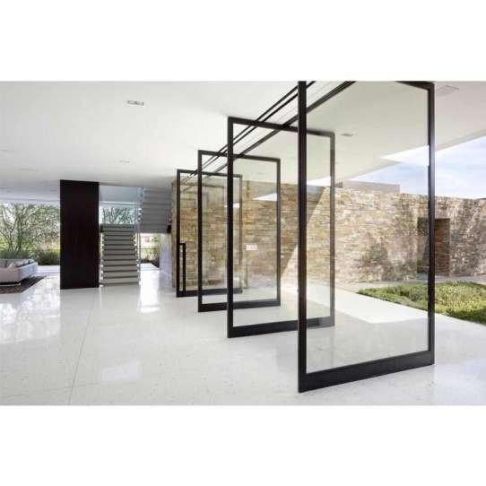 China WDMA Aluminium Arch Front Laminated Oval Glass Pivot Entrance Door Design