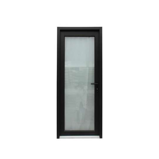 China WDMA Aluminium Extrusion Office Casement Swing Stained Tinted Door With Glass In Sri Lanka Price