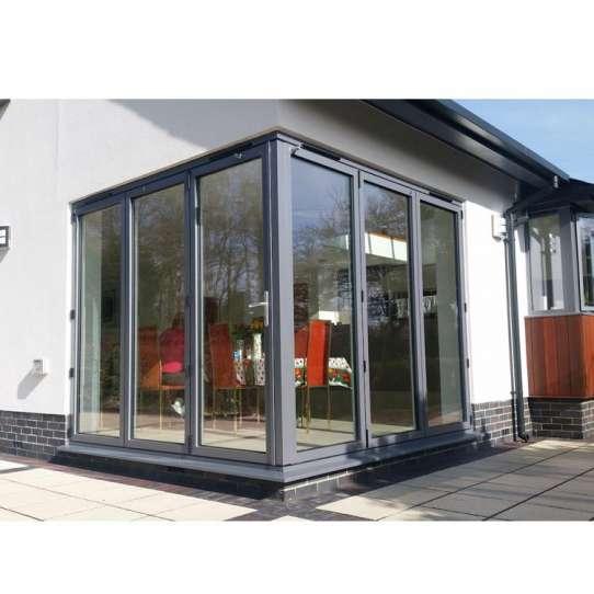 China WDMA Aluminium Glass Folding Sliding Doors Aluminum Balcony Doors