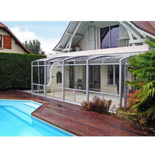 WDMA glass sunroom with retractable roof for sale Aluminum Sunroom