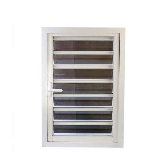 WDMA Aluminium Jalousie Frosted Glass Window Design For Sale