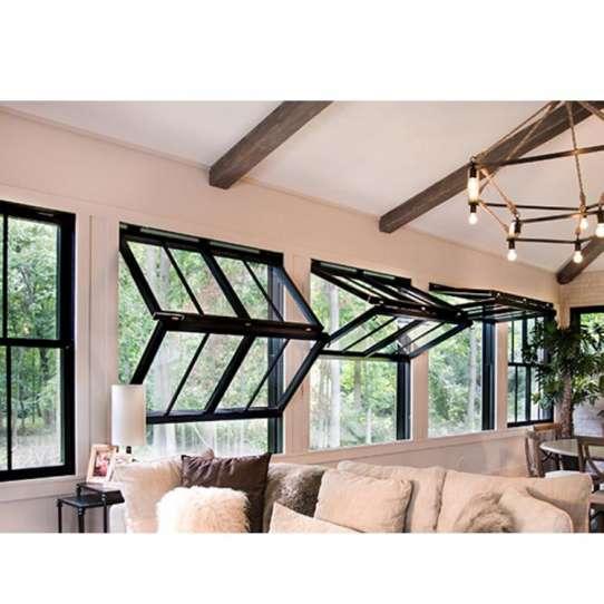 WDMA Aluminium Vertical Folding Door And Window Push Up Fold Up Window