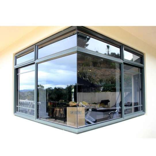 WDMA Aluminum Alloy Corner Joint Double Glazed Window With Mosquito Screen Australia Standard As2047