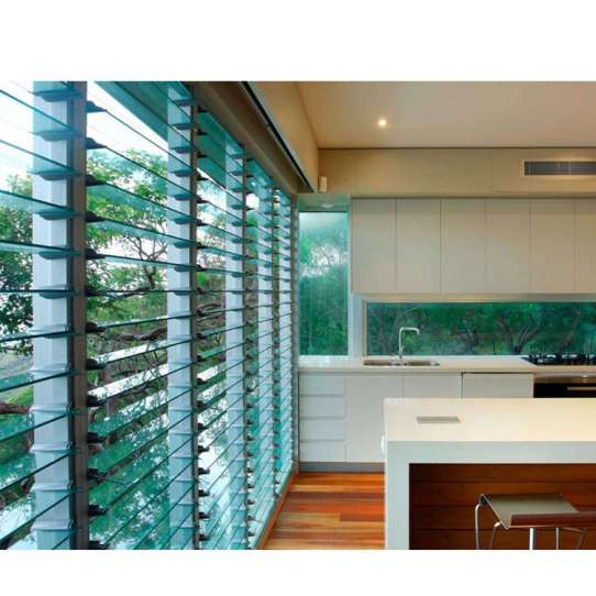 China WDMA Aluminum Bathroom Louver Glass Shutter Window