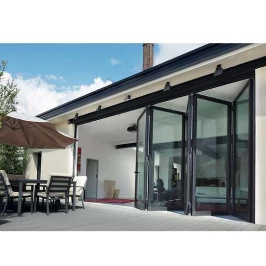 China WDMA folding patio doors Aluminum Folding Doors