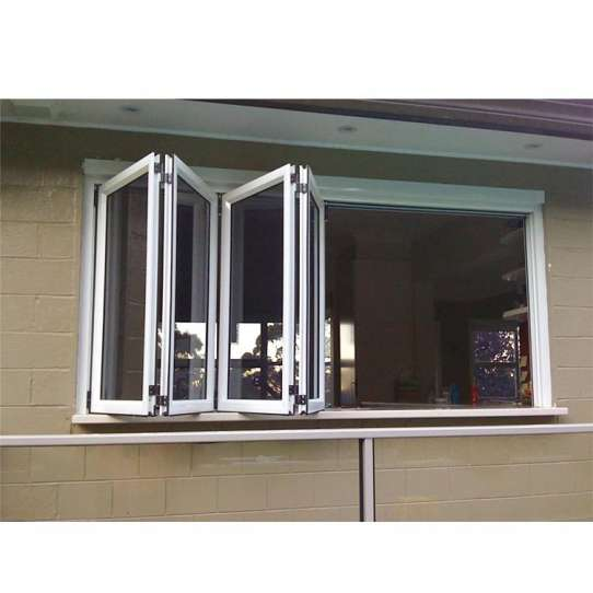 China WDMA Aluminum Bi Folding Window
