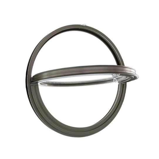 WDMA Aluminum Circular Window Aluminum Circle Round Pivot Window With Grill Design For Sale