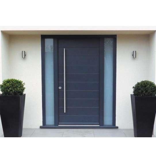 China WDMA Aluminum Extrusion Interior Double French Door Frosted Tempered Glass Toilet Swing Door For Bathroom
