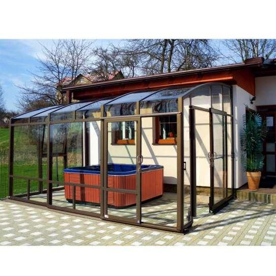 WDMA Aluminum Frame Retractable Sunroom Roof Aluminum Patio Enclosure Free Standing Sunroom Sunhouse