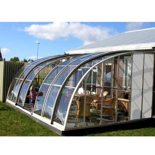 China WDMA Aluminum Frame Retractable Sunroom Roof Aluminum Patio Enclosure Free Standing Sunroom Sunhouse