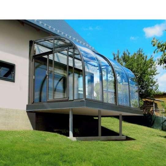 China WDMA Retractable Sunroom Roof