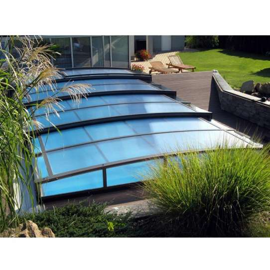 WDMA Aluminum Frame Sunrooms Glass Houses Awning Retractable Telescopic Cover For Swimming Pool