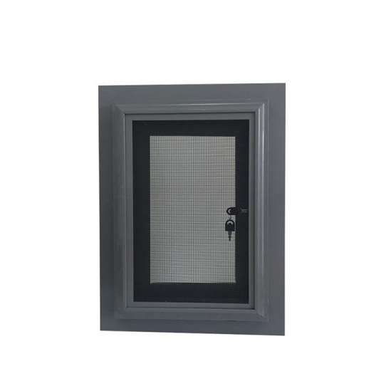 China WDMA Aluminum Profile Solid Red Oak Wood Outward Opening Window With Grill Design
