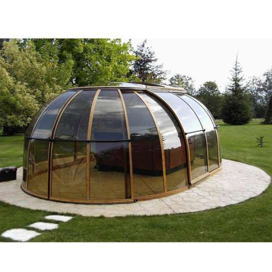 WDMA Aluminum Retractable Roof Swimming Pool Dome Cover Patio Enclosure