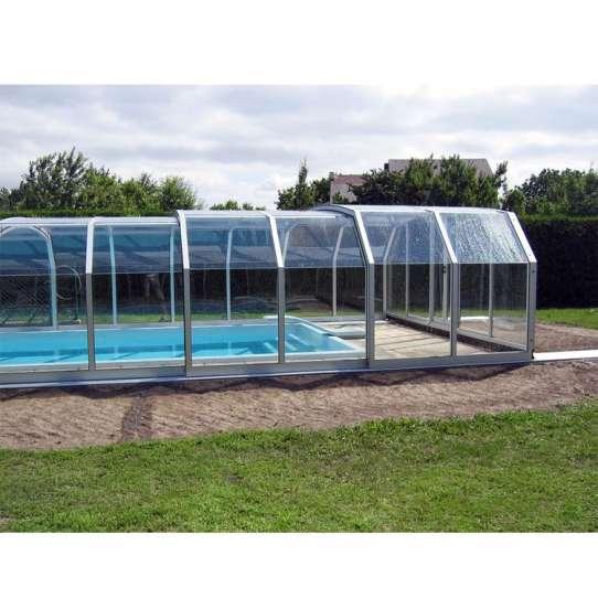 WDMA Aluminum Retractable Swimming Pool Cover Sliding Glass