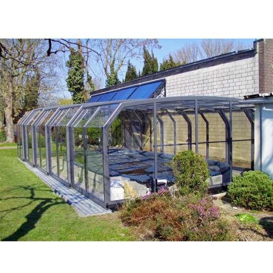 WDMA Aluminum Swimming Pool Cover Retractable Glass Sunroom Australia