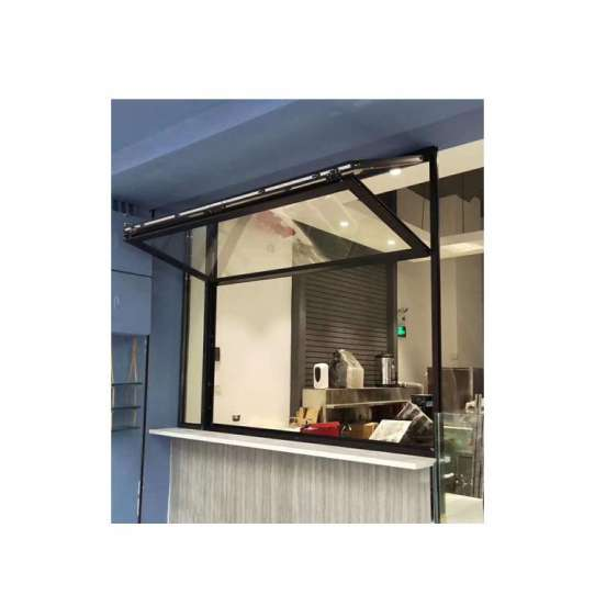 WDMA Aluminum Vertical Folding Sliding Glass Window And Door Price