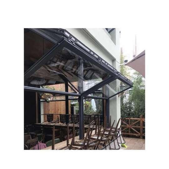 China WDMA Aluminum Vertical Folding Sliding Glass Window And Door Price