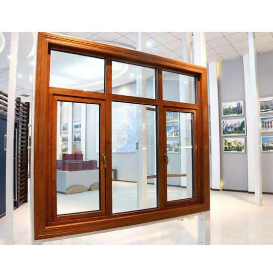 China WDMA America Style Aluminum Clad Wood Casement Window With Double Toughened Glass For Villa House