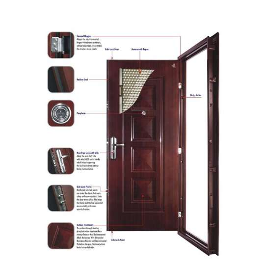 WDMA American Entry Security Steel Doors Exterior Armored Doors Made In China
