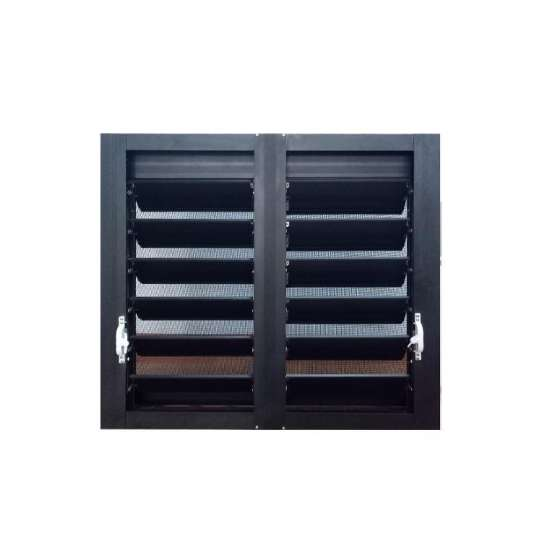 WDMA American Style New Design Aluminium Louvered Frame Basement Shutter Window In China