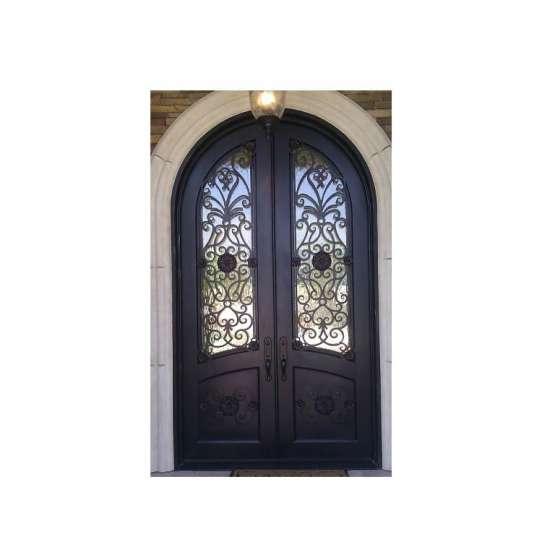 WDMA Decorate Arches Villa Entrance Iron Door