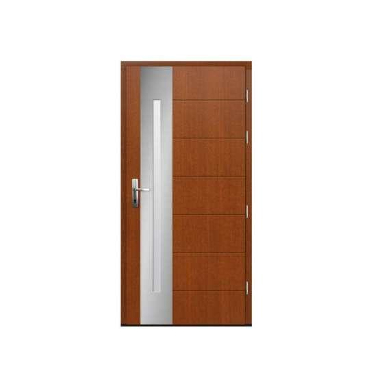 China WDMA Apartment Pine Wooden Flush Doors Single Design House Wood Interior Room Door