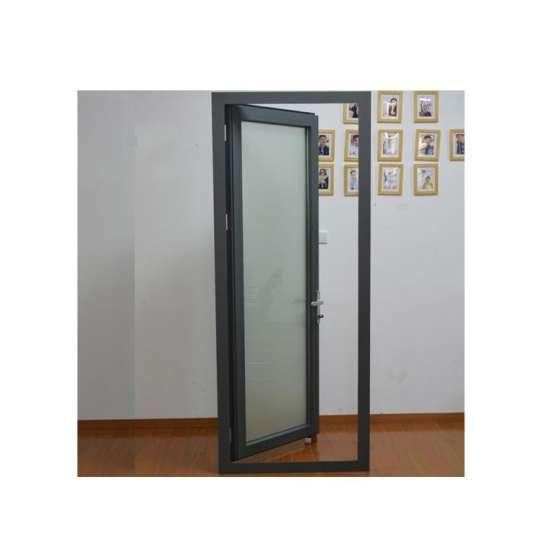 China WDMA Broken-bridge Aluminum Alloy One Way Restaurant Hanging Glass Kitchen Door