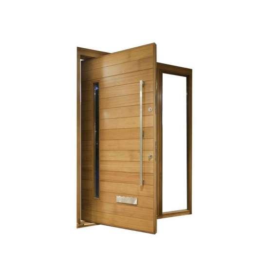 China WDMA Building Material Guangzhou Large Wooden Entrance Modern Pivot Door