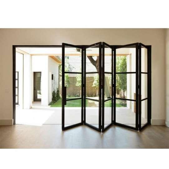 China WDMA Building Material Non Standard Motorized Exterior Bi Fold Exterior Doors Patio Doors