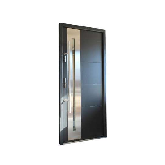 WDMA Burglar Proof Designs 304 Stainless Steel Entry Safety Security Steel Doors Exterior Stainless Steel Front Door