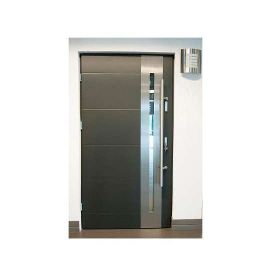 China WDMA Burglar Proof Designs 304 Stainless Steel Safety Entry Residential Door Modern Exterior Stainless Steel Front Door