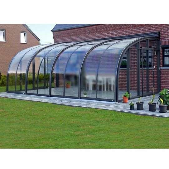 China WDMA Canteen Cafe Enclosures Sunroom Enclosures Sunhouse Retractable Commercial Enclosures