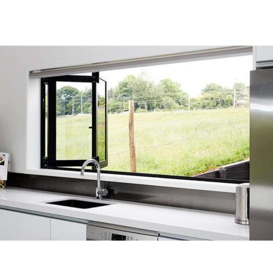 China WDMA Cheap Aluminium Bifold Window Aluminum Horizontal Accordion Folding Window For Kitchen Price