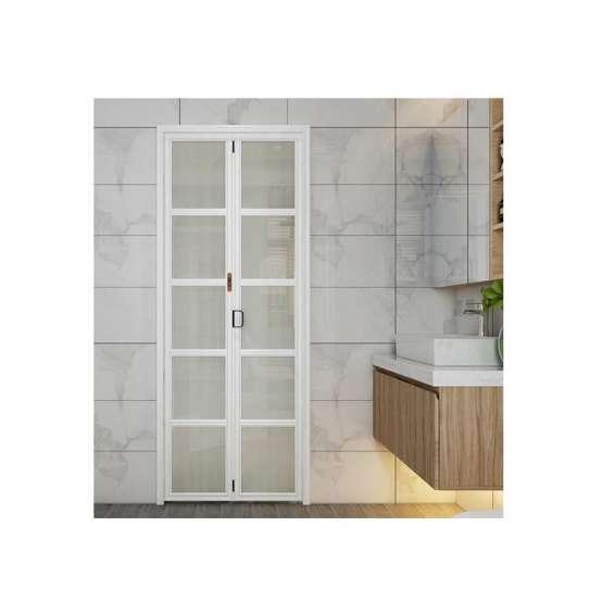 China WDMA Cheap F Aluminum Louver Glass Folding Accordion Door Toilet