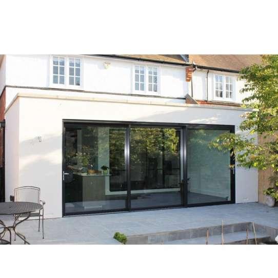 WDMA Cheap Price Outdoor Waterproof Types Of Aluminum Alloy Interior And Exterior Sliding Barn Door Design