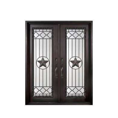 WDMA Cheap Simple Modern Design Wrought Safety Entrance Iron Door Gate Prices For Sale