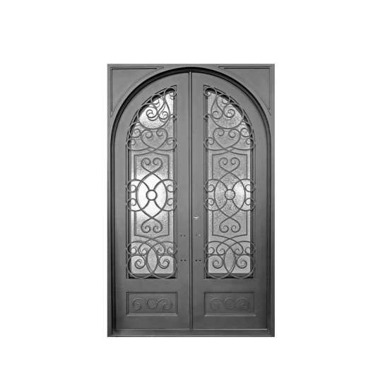 China WDMA Cheap Simple Modern Design Wrought Safety Entrance Iron Door Gate Prices For Sale