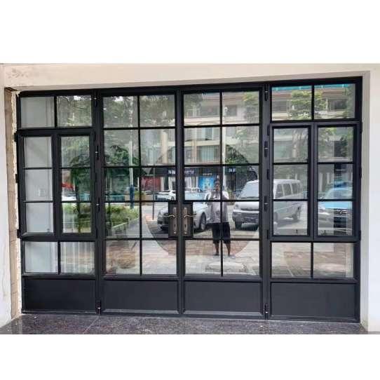 China WDMA Cheap Thermal Break Double Large Glass Aluminium Alloy Interior Folding Lowe Glass Door