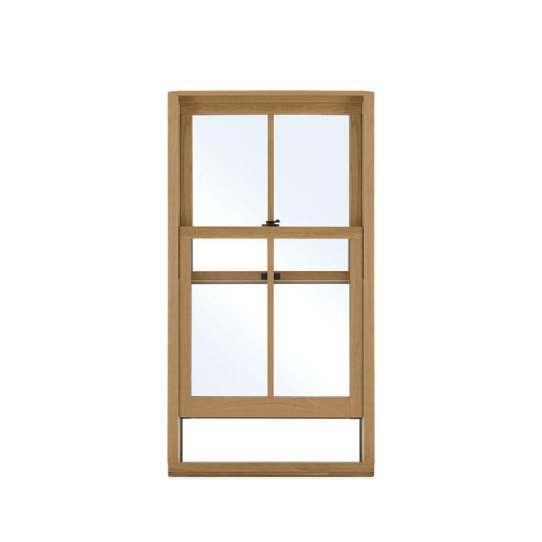 China WDMA Aluminum Clad Wood Signle Hung Window