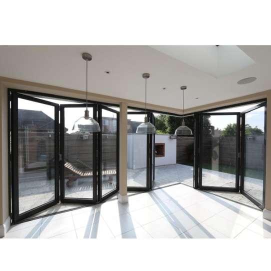 WDMA Custom Latest Main Designs Frameless Sliding Folding And Foldable Glass Door