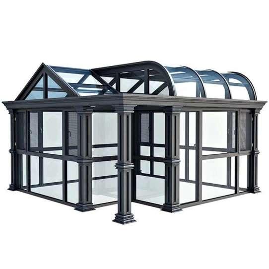 WDMA Customized Aluminum Sound Proof Heat Insulated Tempered Window Door Glass Sunroom