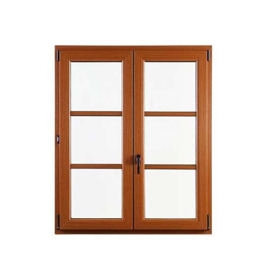 China WDMA Double Glazed Aluminium Thermally Broken Brown Color Casement Window Automatic Window For Balcony