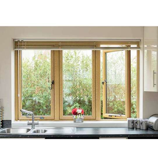 China WDMA Double Glazing Aluminum-clad -wood Windows And Doors Frame Modern Design